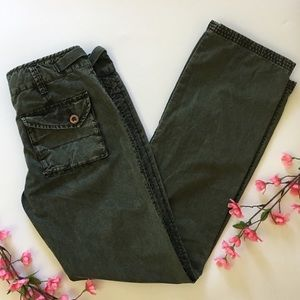 Free People Utility Cargo Pant Army Green Waist 30
